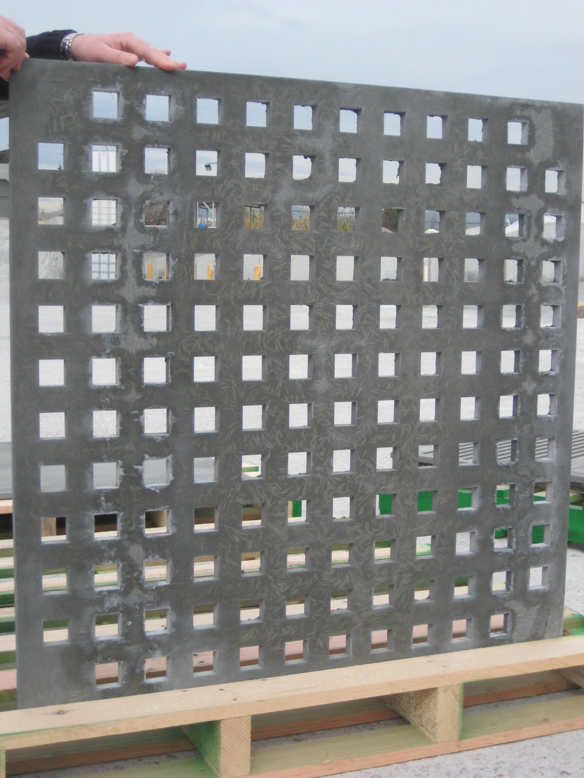 Panel celosía de 30mm. HUAR Armado fibras polipropileno