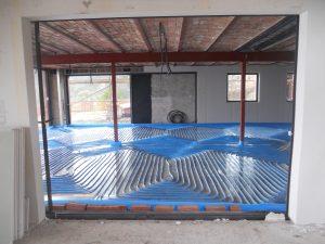 Interior de la Casa Golfet en rehabilitación.