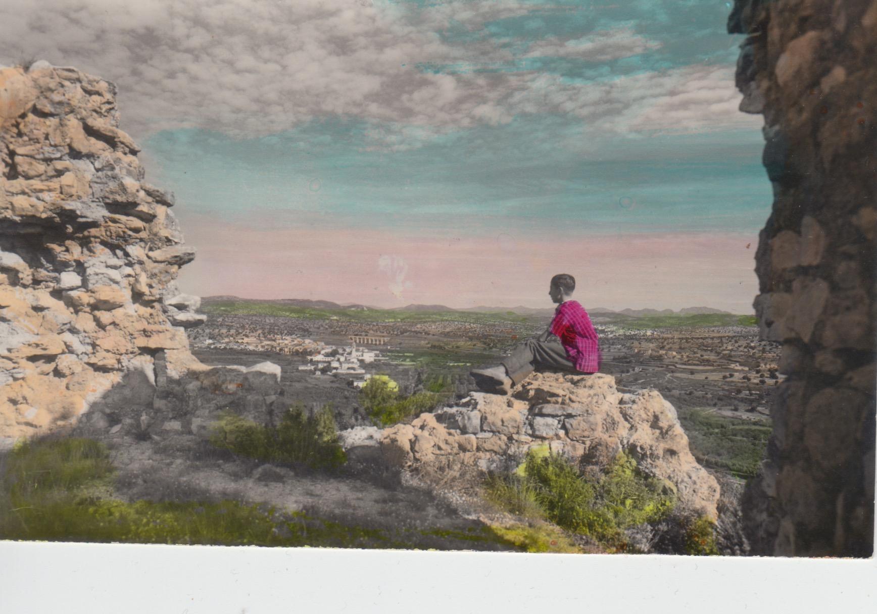 Vista panoràmica des del castellot. Raymond. Postal anys 50