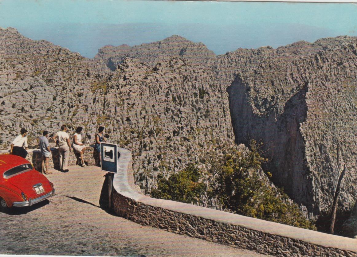 Imatge del Mirador del Torrent de Pareis.Mallorca. Casanova. 1968
